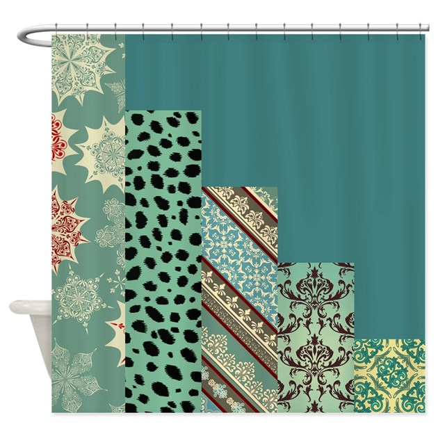 Seafoam Teal Shower Curtain By Quiltshop