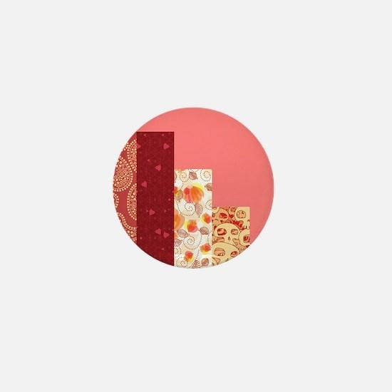 RED & SALMON Mini Button