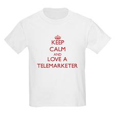 Keep Calm and Love a Telemarketer T-Shirt