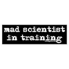 Mad Scientist Black Bumper Bumper Sticker
