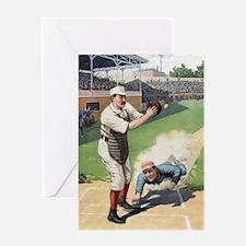 Vintage Baseball Greeting Card