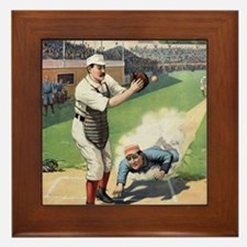 Vintage Baseball Framed Tile