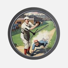 Vintage Baseball Wall Clock