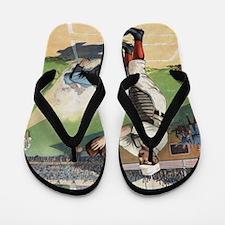 Vintage Baseball Flip Flops