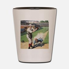Vintage Baseball Shot Glass