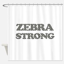 Zebra Strong Shower Curtain