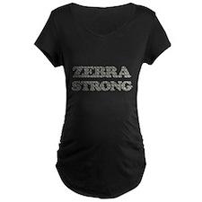 Zebra Strong Maternity T-Shirt