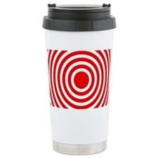 Red Bullseye Travel Mug