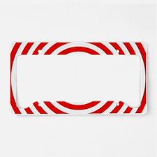 Red Bullseye License Plate Holder