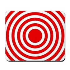 Red Bullseye Mousepad