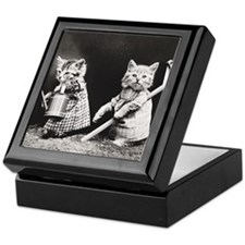 Kittens At Work Keepsake Box