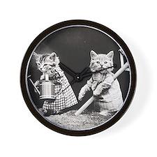 Kittens At Work Wall Clock