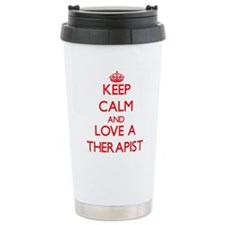Keep Calm and Love a Therapist Travel Mug