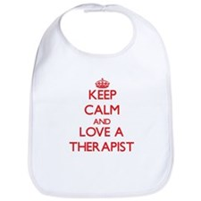 Keep Calm and Love a Therapist Bib