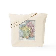 Vintage France Map Tote Bag