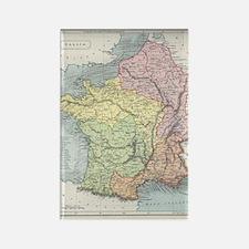 Vintage France Map Rectangle Magnets