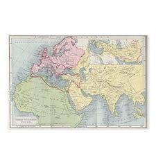 Vintage Europe Map Postcards (package Of 8)