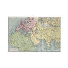 Vintage Europe Map Rectangle Magnets