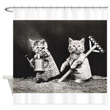 Kittens At Work Shower Curtain