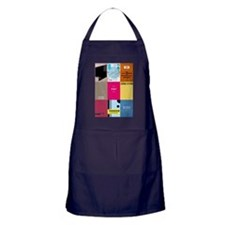 Classic Book Covers Apron (dark)