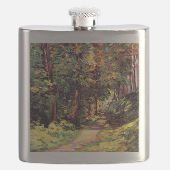 A Path in the Woods, an Armand Guillaumin pa Flask