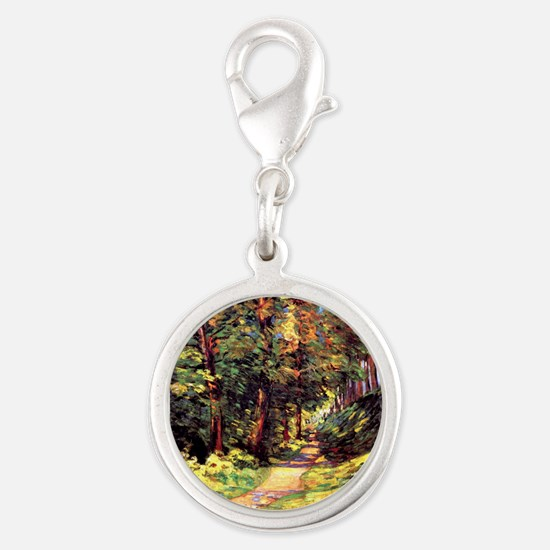 A Path in the Woods, an Armand Silver Round Charm