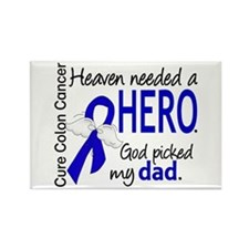Colon Cancer HeavenNeededHero1.1 Rectangle Magnet