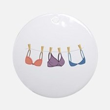 Bras On Line Ornament (Round)