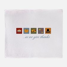 As We Give Thanks Throw Blanket