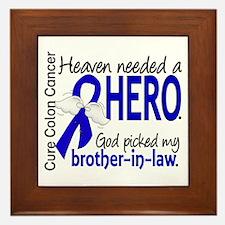 Colon Cancer HeavenNeededHero1.1 Framed Tile