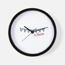 Believe In Santa Wall Clock
