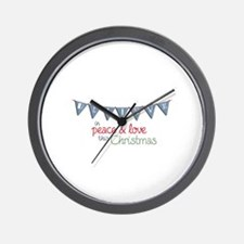 Believe In Peace & Love This Christmas Wall Clock