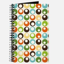 Retro Mod Abstract Circles Journal