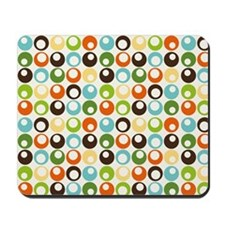 Retro Mod Abstract Circles Mousepad