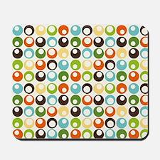 Retro Mod Abstract Circles Mousepad