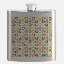 Retro Mod Abstract Circles Flask