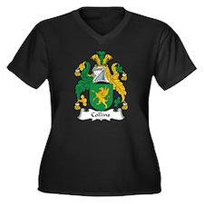 Collins Women's Plus Size V-Neck Dark T-Shirt