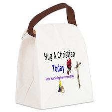 Hug A Christian  Canvas Lunch Bag