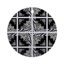 BLACK & GREY Ornament (Round)