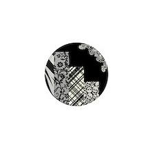BLACK & GREY Mini Button