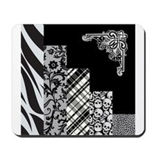 BLACK & GREY Mousepad
