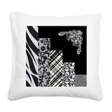 BLACK & GREY Square Canvas Pillow