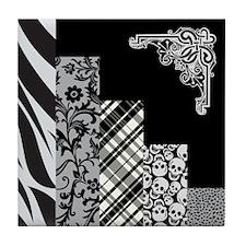 BLACK & GREY Tile Coaster