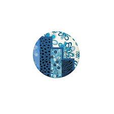 BLUE FLORAL Mini Button
