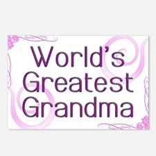 World's Greatest Grandma Postcards (Package of 8)