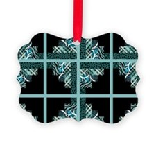 TEAL & BLACK Ornament
