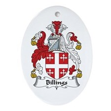 Billings Oval Ornament
