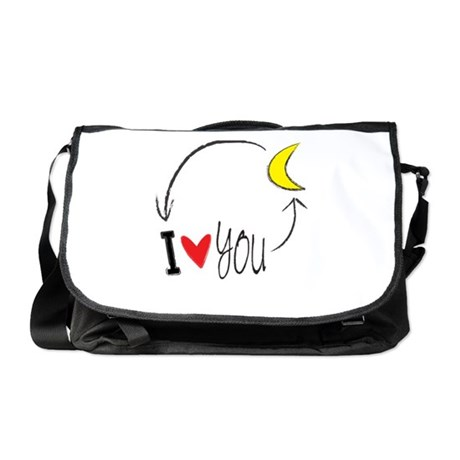 I love you to the moon and back Messenger Bag