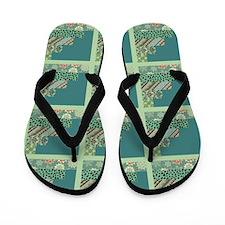 SEAFOAM & TEAL Flip Flops