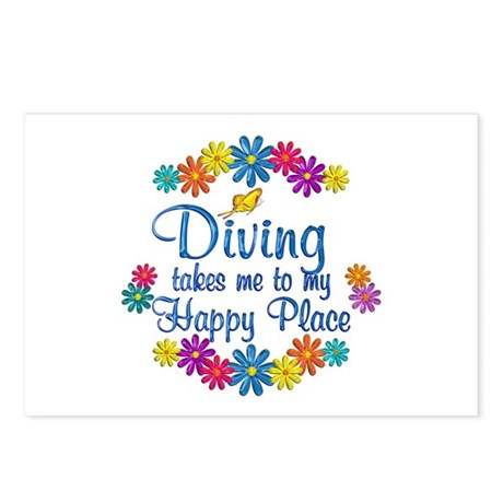 Diving Happy Place Postcards (Package of 8)